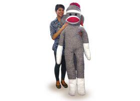 Life Size Sock Monkey, 6Ft.