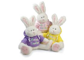 Happy Easter Hoodie Bunnies (3 Asst)