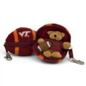 Virginia Tech Football Keychain