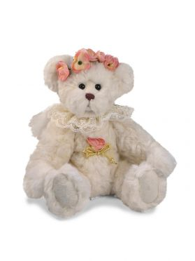Jointed Angel Bear with Flower