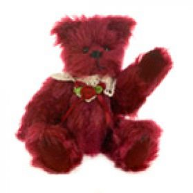 Jointed Burgundy Bear