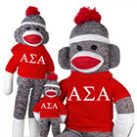 Alpha Sigma Alpha Sock Monkey