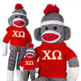 Chi Omega Sock Monkey