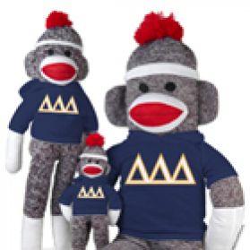 Delta Delta Delta Sock Monkey