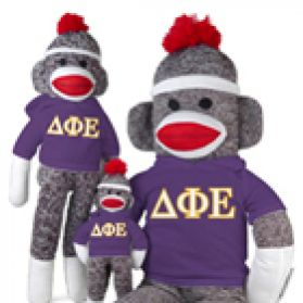 Delta Phi Epsilon Sock Monkey