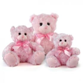 Fluffy Bear - Pink