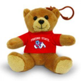 Fresno State Jersey Bear Keychain