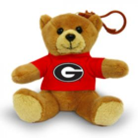 Georgia Jersey Bear Keychain