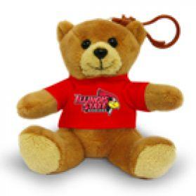 Illinois St. Jersey Bear Keychain