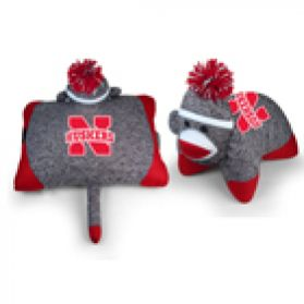 Nebraska Sock Monkey Pillow