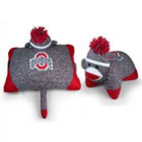 Ohio State Sock Monkey Pillow