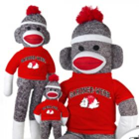 Gardner Webb Sock Monkey
