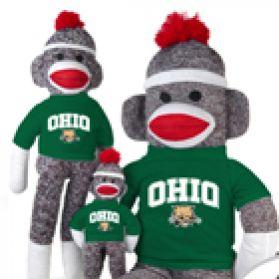 Ohio Univ Sock Monkey