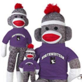 Northwestern Sock Monkey