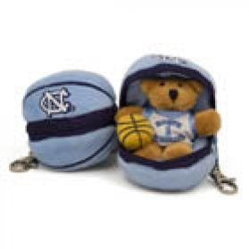 North Carolina Basketball Keychain