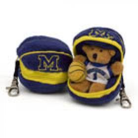 Michigan Basketball Keychain