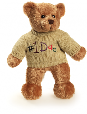 #1 Dad Sweater Bear