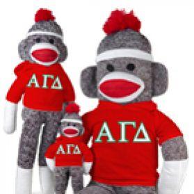 Alpha Gamma Delta Sock Monkey