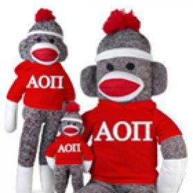 Alpha Omicron Pi Sock Monkey