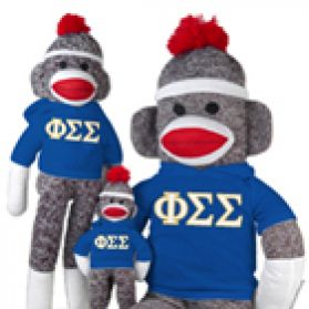 Phi Sigma Sigma Sock Monkey