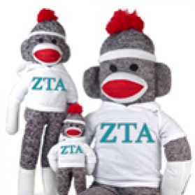 Zeta Tau Alpha Sock Monkey