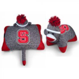 NC State Sock Monkey Pillow