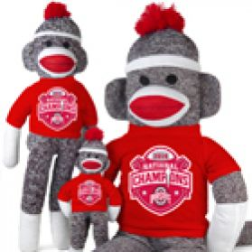 2014 Ohio State Nat'l Championship Sock Monkey