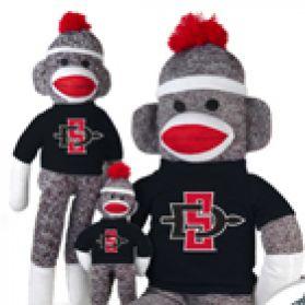 San Diego State Sock Monkey