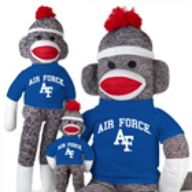 Air Force Sock Monkey - dressed in Air Force's color