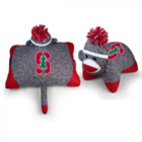 Stanford Sock Monkey Pillow