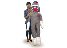 Life Size Sock Monkey, 6Ft.