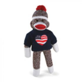 I Love USA Sock Monkey