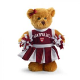 Harvard Cheerleader Bear 8in