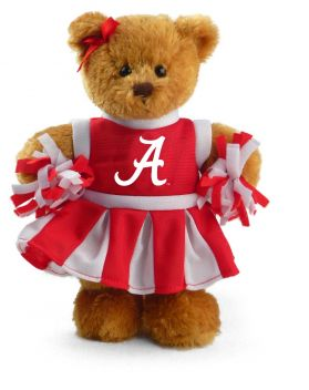 Alabama Cheerleader Bear 8in