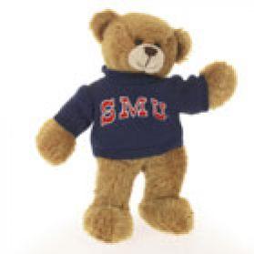 S M U Sweater Bear