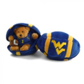 West Virginia Zipper Football 8in