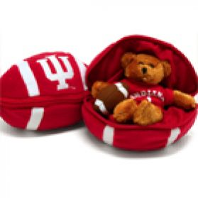 Indiana Zipper Football 8in