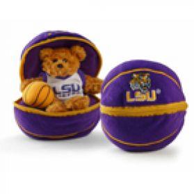 LSU Zipper Basketball 8in