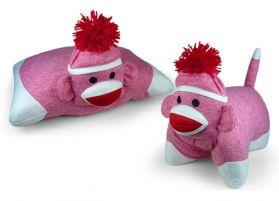 Sock Monkey Pillow - Pink