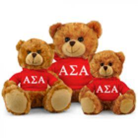 Alpha Sigma Alpha Hoodie Bear