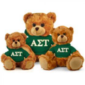 Alpha Sigma Tau Hoodie Bear