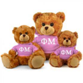 Phi Mu Hoodie Bear