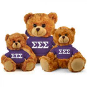 Sigma Sigma Sigma Hoodie Bear