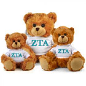 Zeta Tau Alpha Hoodie Bear