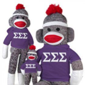 Sigma Sigma Sigma Sock Monkey