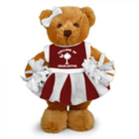 Charleston Cheerleader Bear 8in