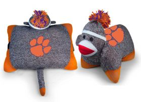 Clemson Sock Monkey Pillow