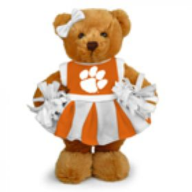 Clemson Cheerleader Bear