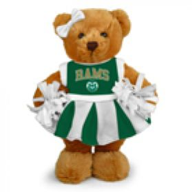 Colorado State Cheerleader Bear 8in