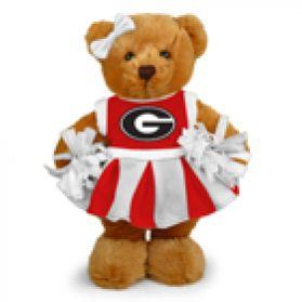 Georgia Cheerleader Bear 8in
